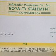 Our First Royalty Statement.