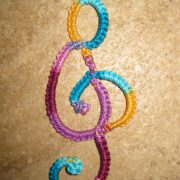 Momcat Monday-Needle Tatting #5 (Treble Clef).