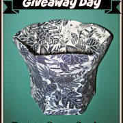 Giveaway Day-Blue and White Hexagonal Base Vase