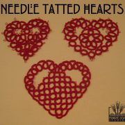 Needle Tatting-Tatted Hearts with Split Rings