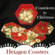 Hexagon Coaster Set-Countdown to Christmas 2015