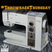 Sewing Machine – Quilter's Tool Chest for Throwback Thursday