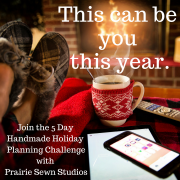 Handmade Holiday Planning Challenge
